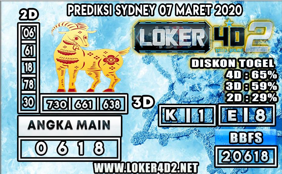 PREDIKSI TOGEL SYDNEY LOKER4D2 7 MARET 2020