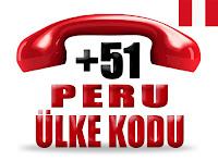 +51 Peru ülke telefon kodu