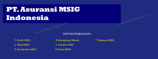 PT. Asuransi MSIG Indonesia