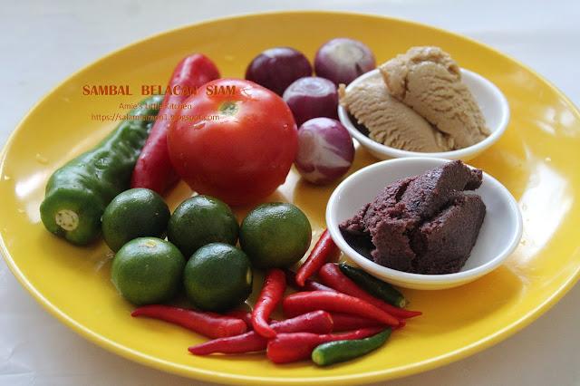 resepi belacan sambal siam
