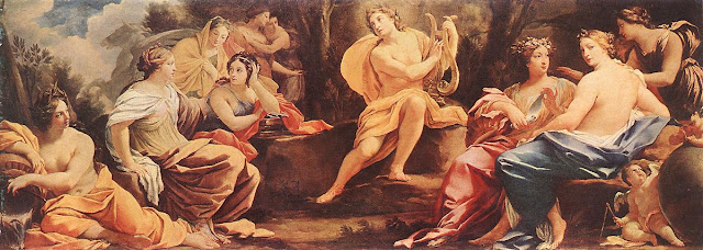 Apollo and the Muses by Simon Vouet, c. 1640