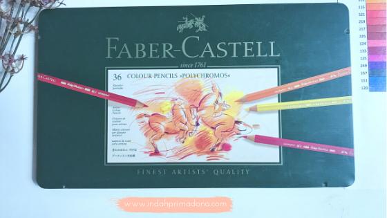review pensil warna polychromos, review polychromos, pensil warna faber castell, faber castell polychromos, pensil warna profesional