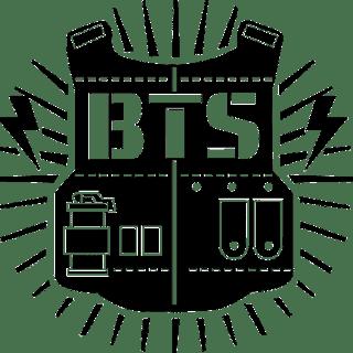 illustration of a bullet proof vest for bts logo