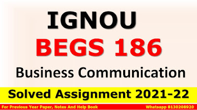 BEGS 186 Solved Assignment 2021-22