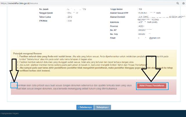 Cara mengirim lamaran CPNS secara online
