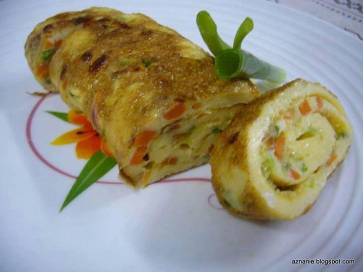 resepi telur gulung egg roll mudah dan sedap