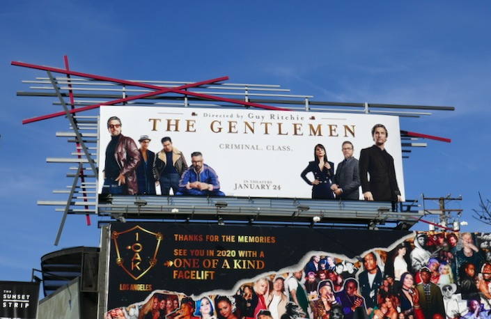 The Gentlemen film billboard