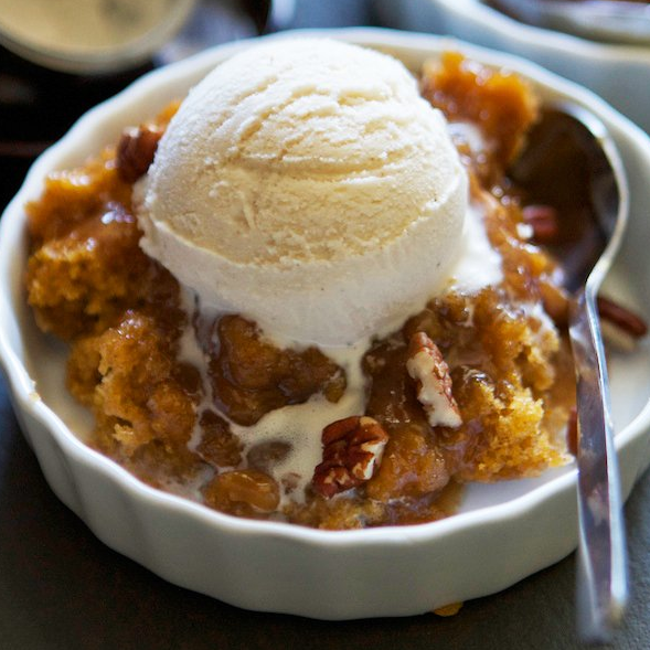 PUMPKIN PECAN COBBLER #pumpkin #desserts #easy #party #cakes