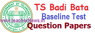 TS Baseline Test Question Papers Telugu English Maths Pre Test Papers