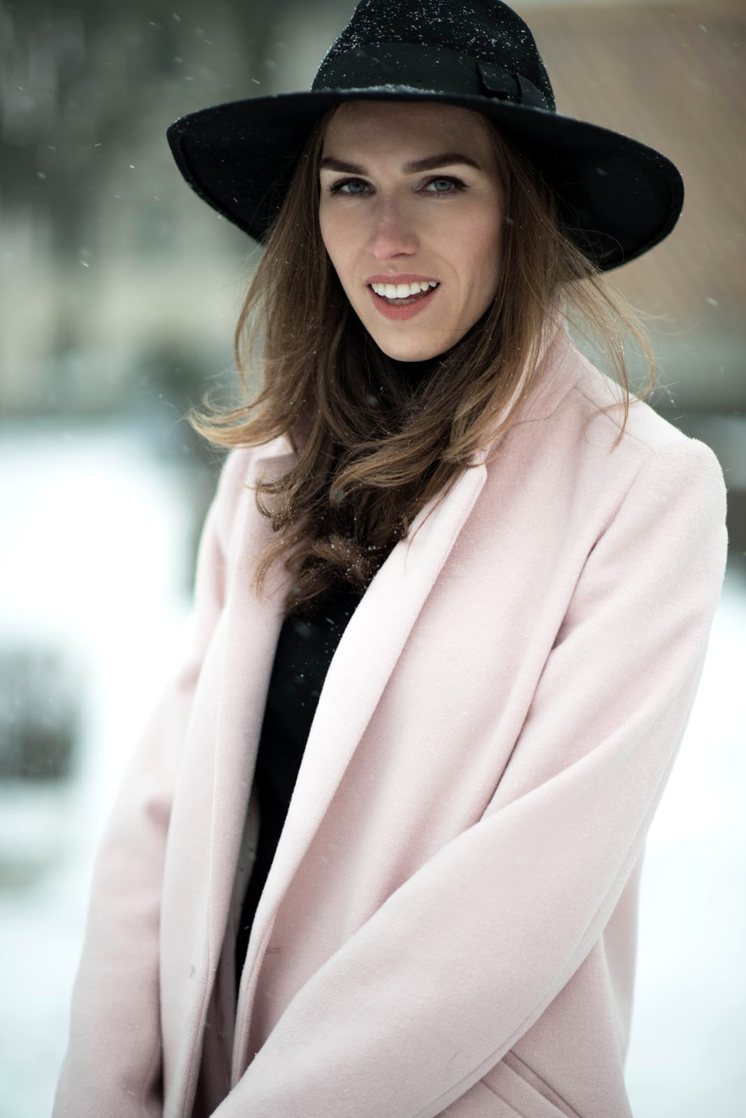 winter outfit fedora hat