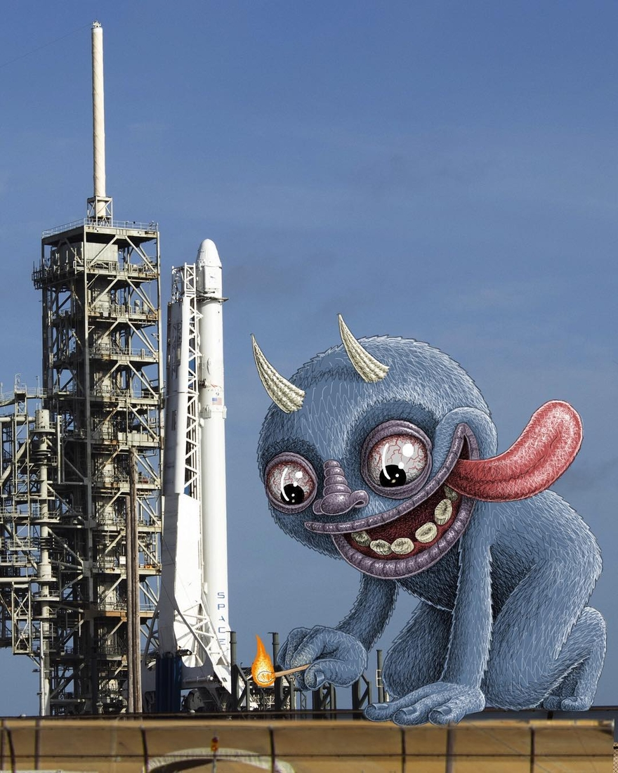 03-Playing-with-my-Rocket-Digital-Imaginative-Illustrations-Escape-in-the-Real-World-Ben-Rubin-www-designstack-co