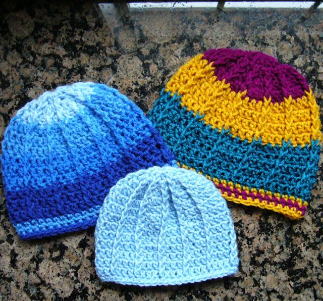 Crochet Front Post Hat for OCC Shoebox Gift