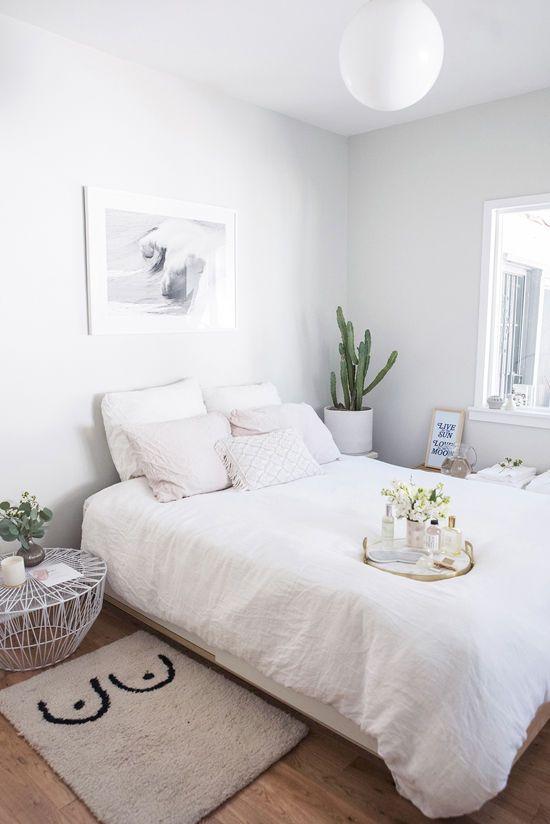habitaciones grises y blancas 15 Fotos De Habitaciones Blancas Inspiradoras