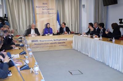 اجتماع في الجمعية الوطنية الفرنسية بحضور السيدة مريم رجوي بعنوان «إيران: القمع وإشعال الحروب وضرورة تعامل جديد»