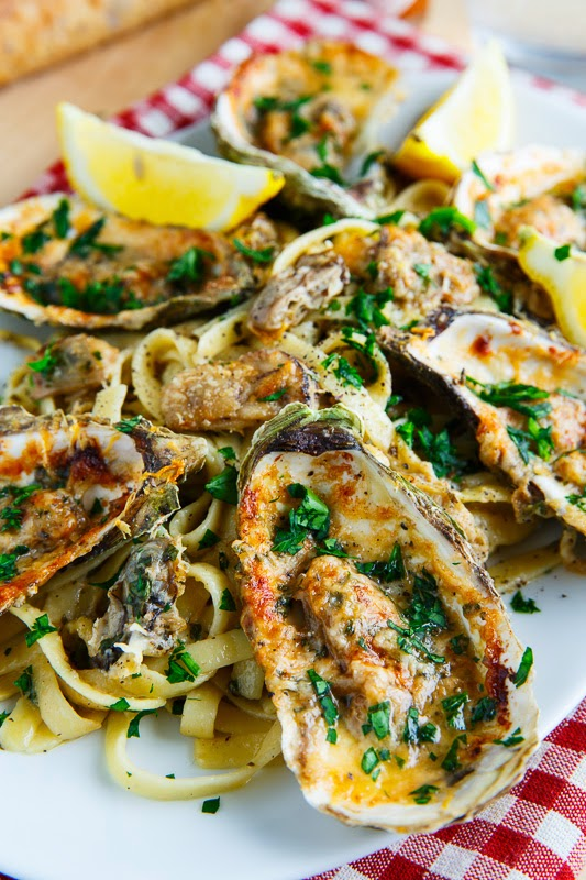 Chargrilled Oyster Pasta