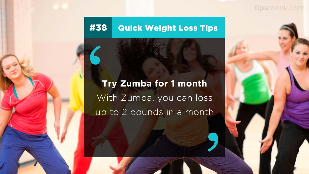 Zumba for weight loss - reduce weight quickly and naturally from home - Tipsmonk