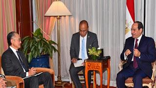 السيسي و رئيس البنك الدولي يبحثان التعاون على هامش الجمعية العامة للأمم المتحدة