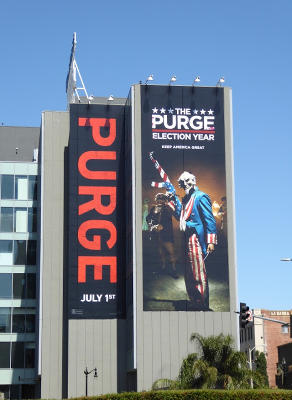 The Purge Election Year movie billboard