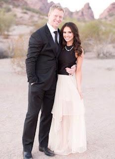 Scott Frost with his wife Ashley Neidhardt