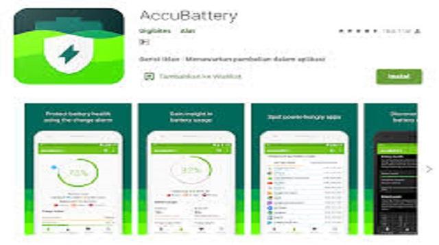 Dengan Aplikasi Cek Kesehatan Baterai Android - Accu Battery