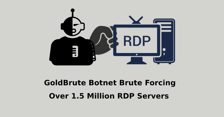 GoldBrute Botnet Trying to Hack more than 1.5 Million RDP Servers Exposed to Internet