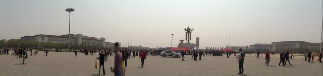 Panorámica de la Plaza de Tian'anmen (Beijing) (@mibaulviajero)