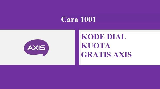 kode dial kuota gratis axis