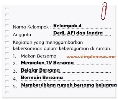 laporan Kegiatan yang menggambarkan kebersamaan dalam keberagaman di rumah www.simplenews.me