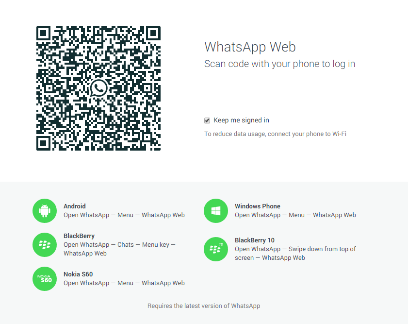 How to enable WhatsApp web on Google Chrome browser