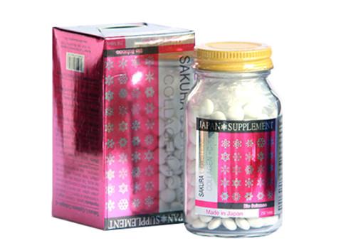 Viên uống trắng da trị nám Sakura L-Cystine Collagen C+