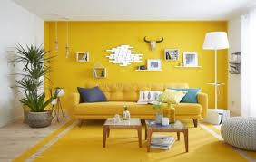 warna cat rumah Kuning dan Putih