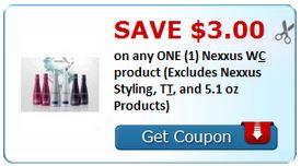$3/1 Nexxus Product COUPONS