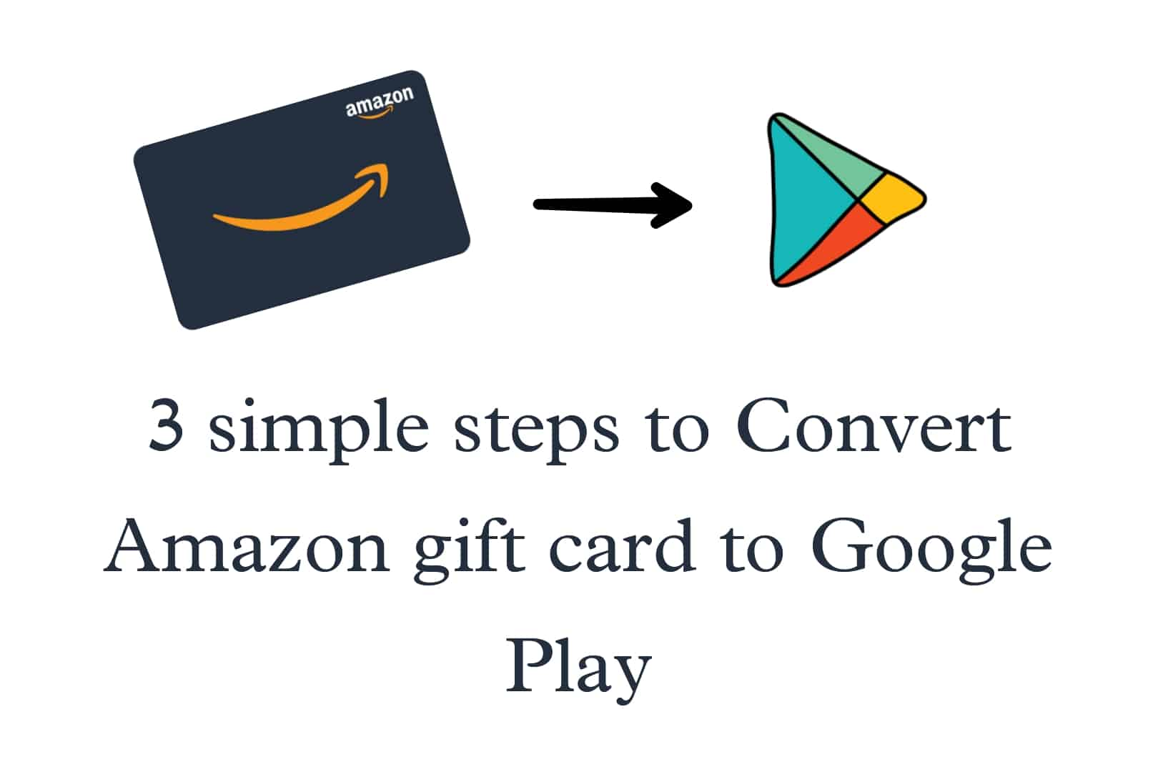 convert Amazon gift card to Google play