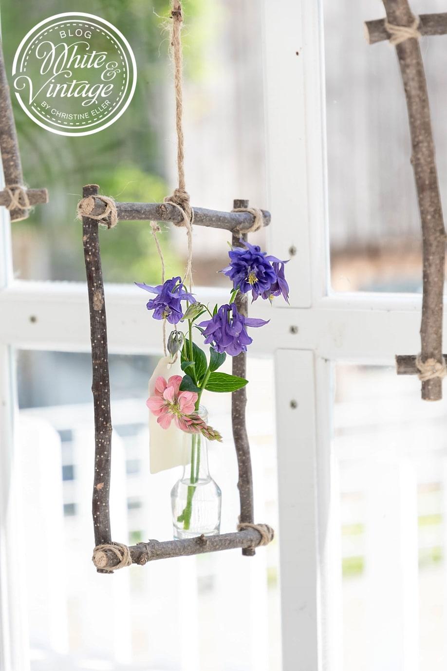 Frühlingsleichte Fensterdeko selber machen.