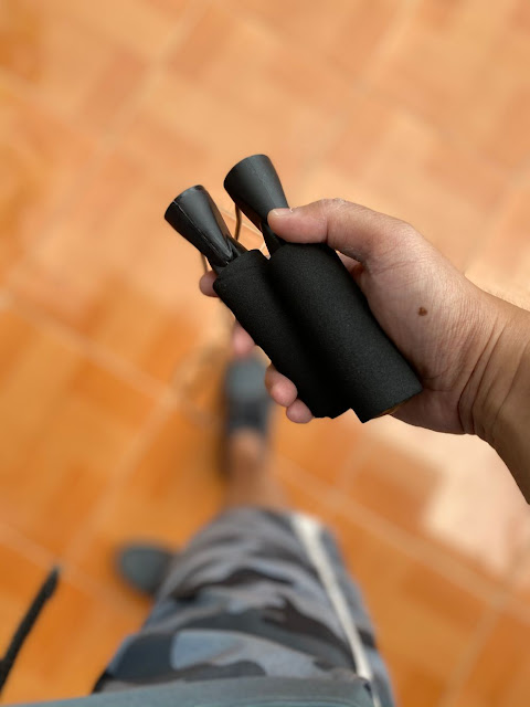 Jump rope is a good and easy fitness hack for work from home dads