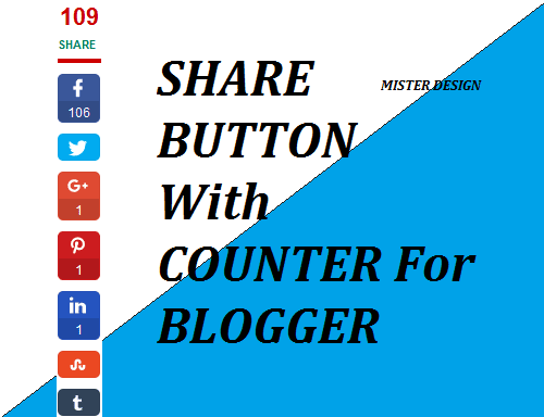 Widget Share Button With Counter