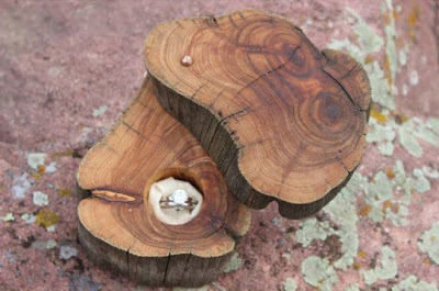 wood ring cushion idea - wedding ideas - wedding planning services - wedding ideas blog by K'Mich in Philadelphia PA
