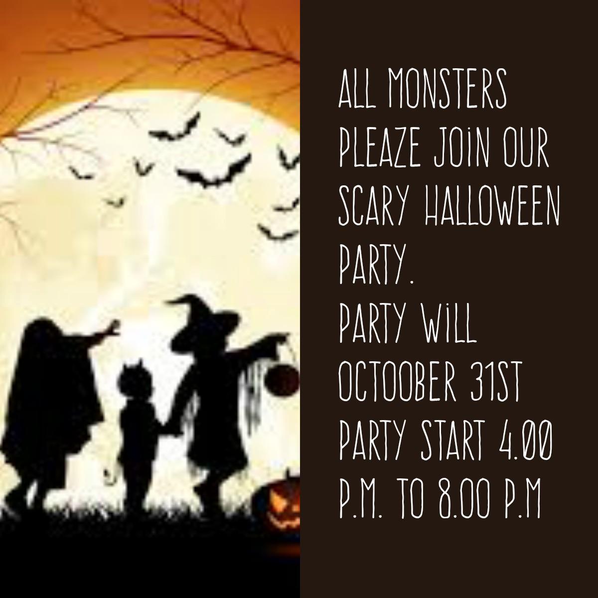 English Is Easy English Is Ok Halloween Invitation