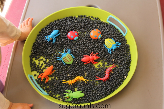 Easy sensory play doesn't require more than a few items found around the home.