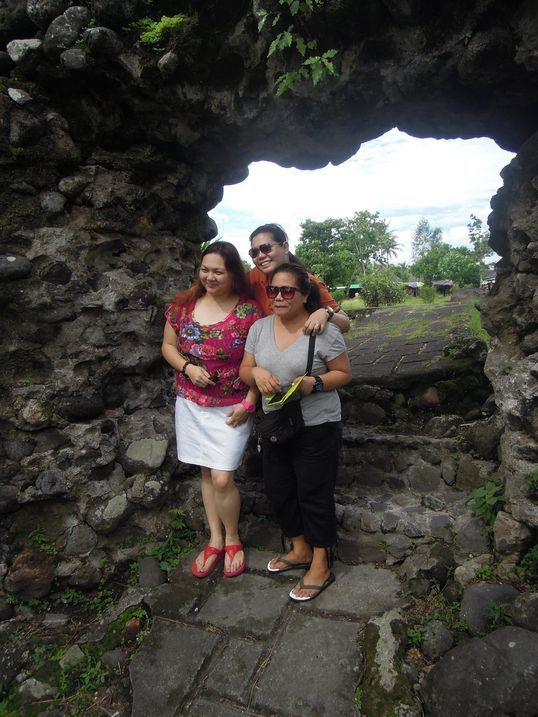 A segment of the wall of Cagsawa Ruins in Albay