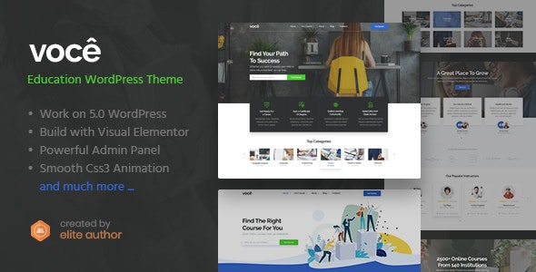 Vocee - Education & LMS WordPress Theme Nulled Free Download