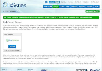 Encuestas en ClixSense