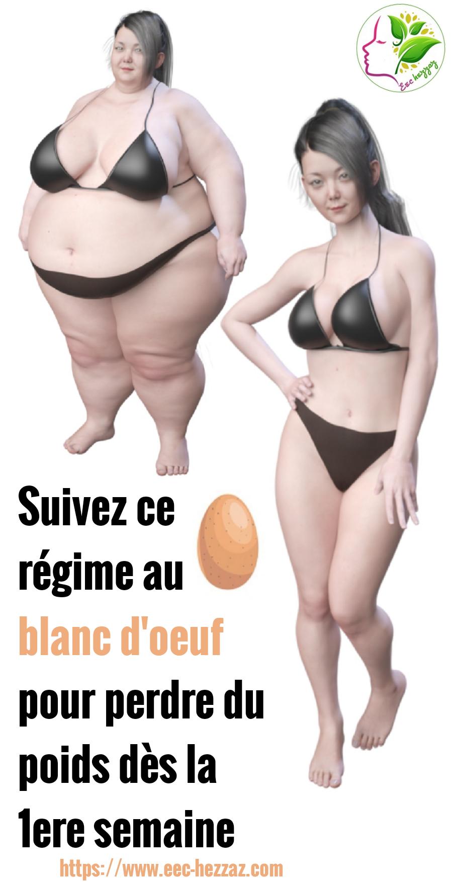 Suivez ce régime au blanc d'oeuf pour perdre du poids dès la 1ere semaine