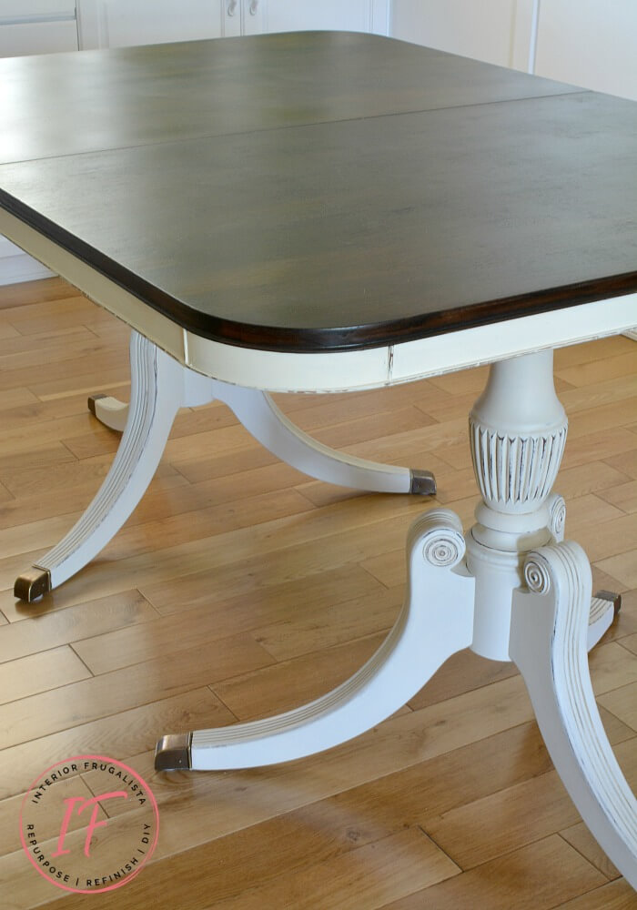 Duncan Phyfe Dining Table Stained Dark Walnut