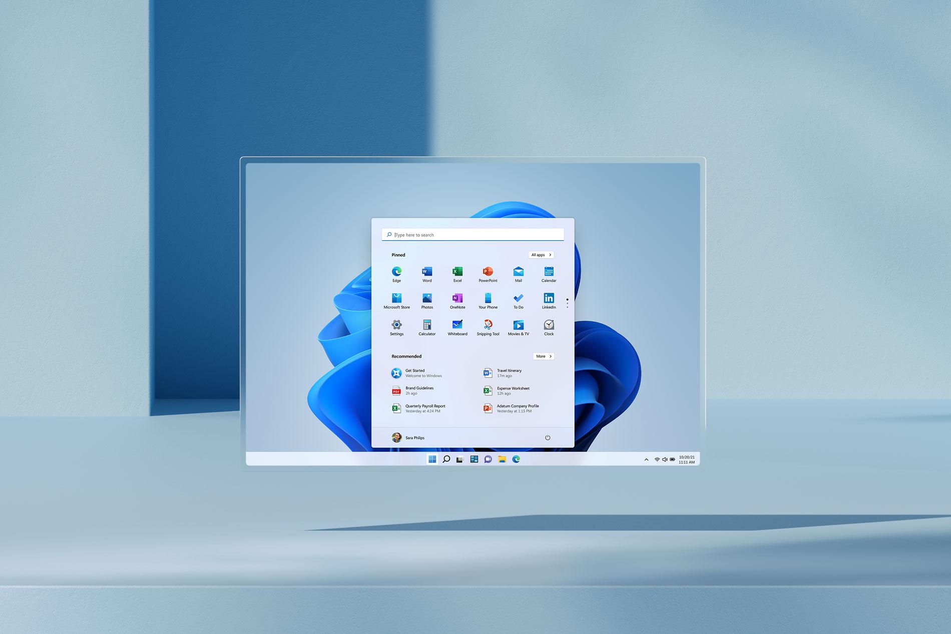 Guarda Windows 11 in azione su Surface Pro X | Video