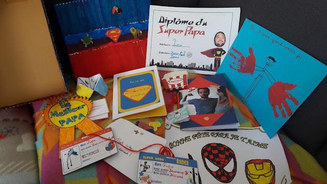 Super papa box création enfant fête des pères idées