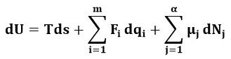 Expresión matemática que relaciona las variables intensivas y extensivas