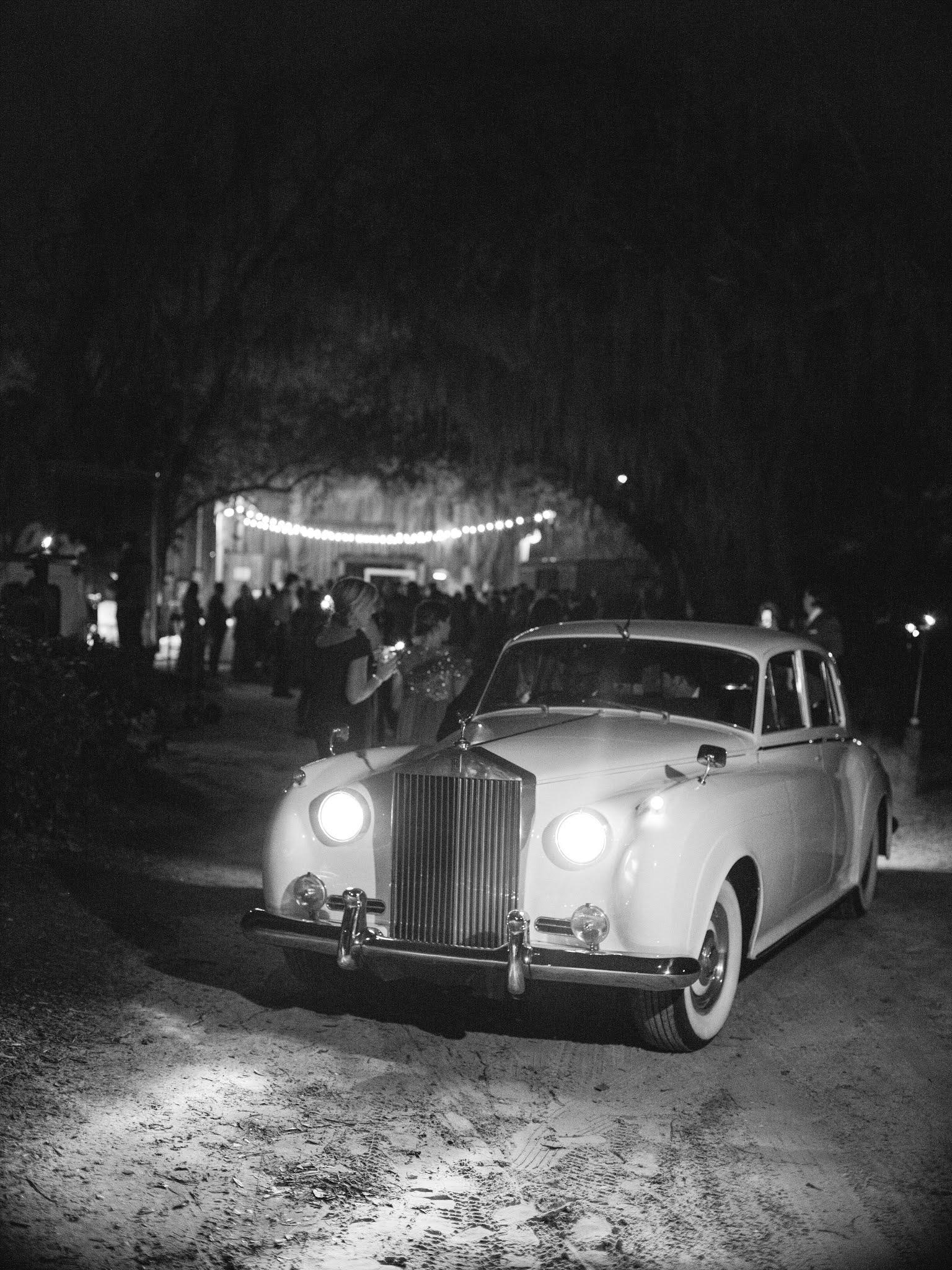 Vintage Car Wedding Transportation - Chasing Cinderella