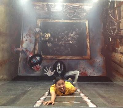 Zona horor di Alive Museum.