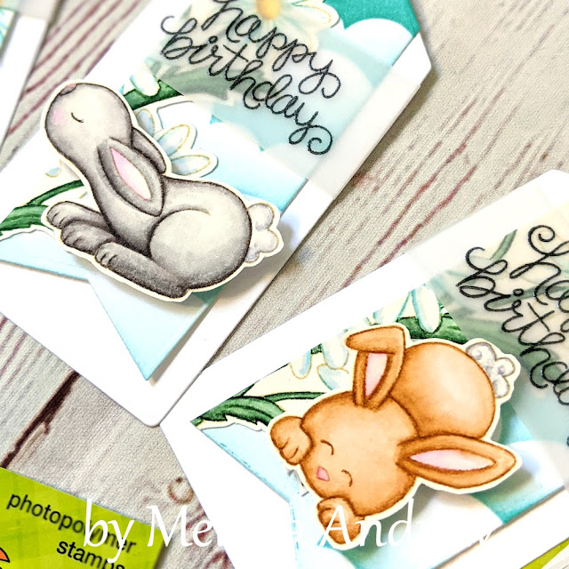 Birthday Tags by Guest Designer Melissa Andrew   Bitty Bunnies Stamp Set by Newton's Nook Designs #newtonsnook